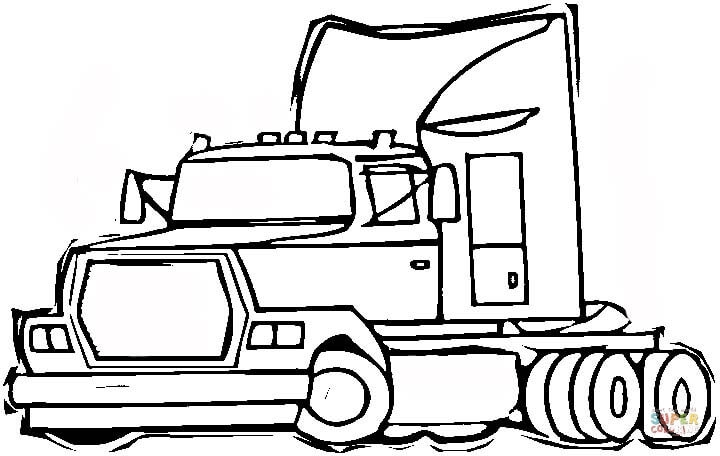 720x456 semi truck coloring pages wheeler semi truck coloring