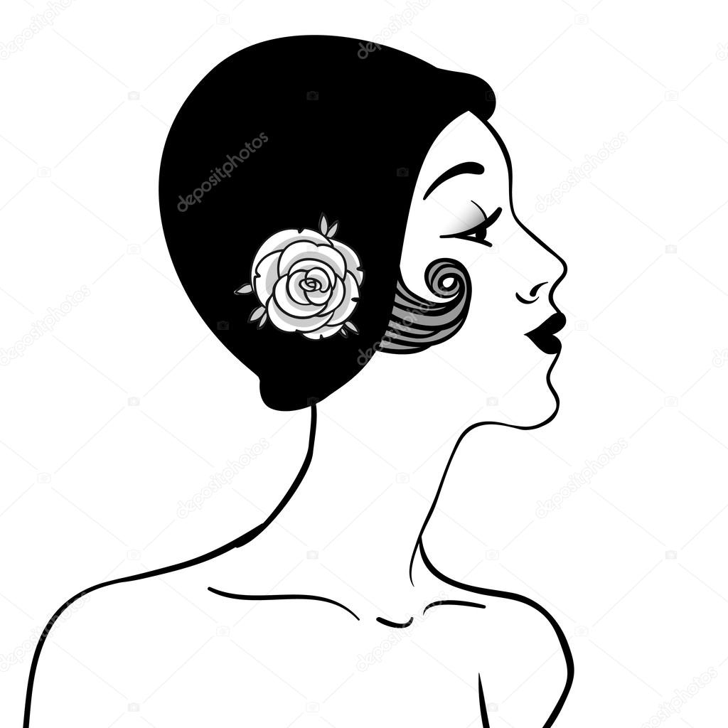 1920s Flapper Drawing
