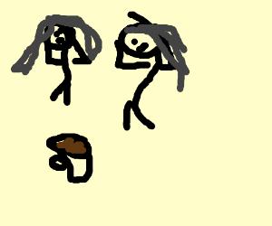 2 Girls Drawing