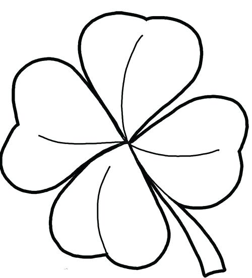 500x552 clover drawing clover drawing stock illustration clover drawing