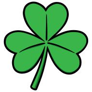 190x189 clover st patrick's day printables three leaf clover, clover