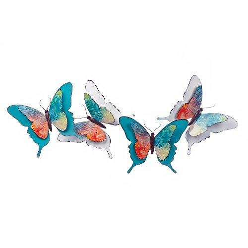 500x500 Metal Wall Decor, Watercolor Butterfly Art