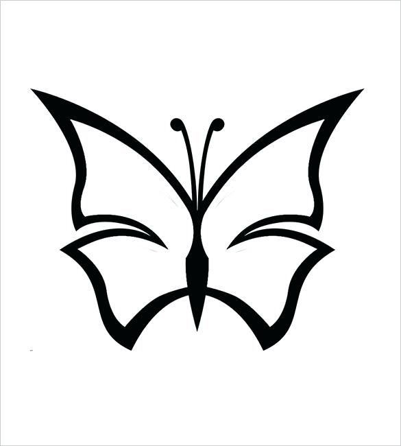 585x650 Butterfly Template To Print Butterfly Drawing Template At Free
