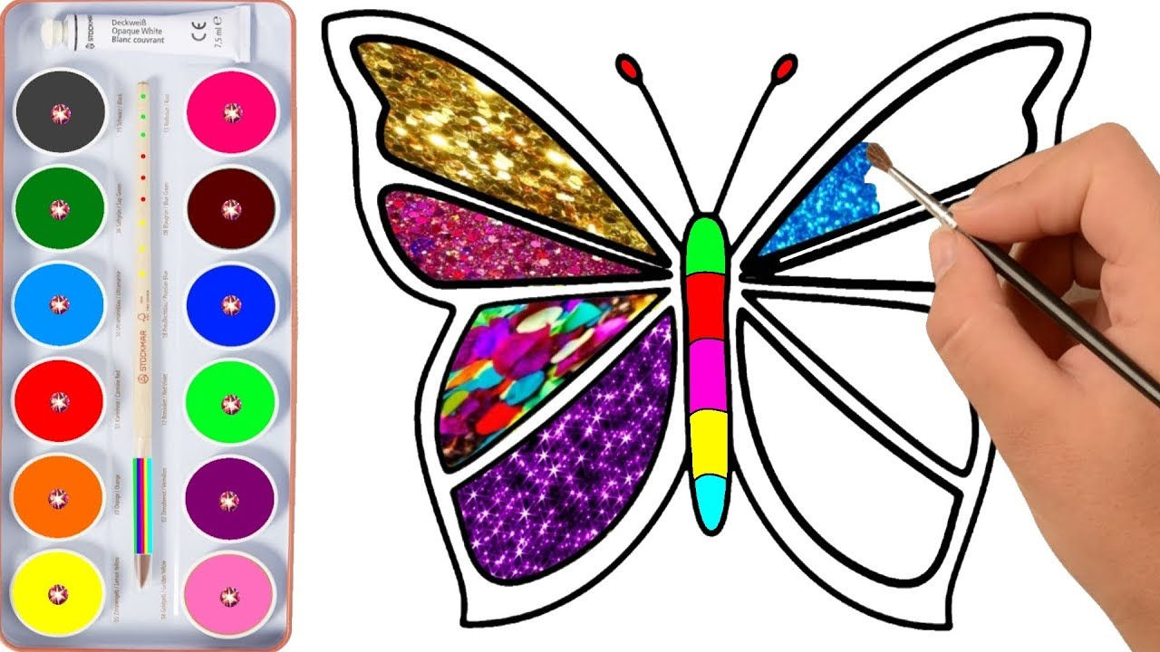 1280x720 Drawing For Kids Butterfly, And Many Picture Coloring Pages