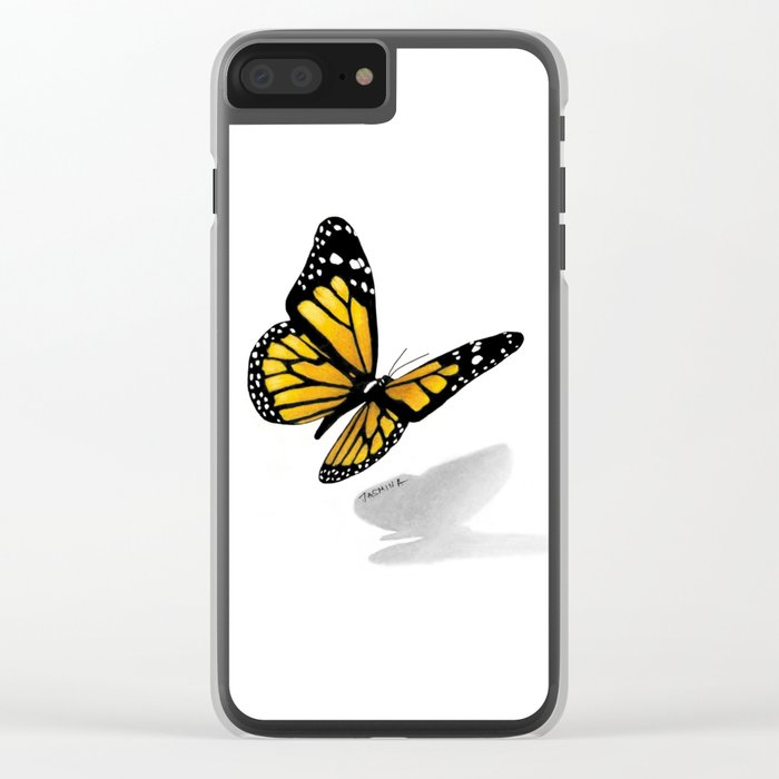 700x700 Butterfly Drawing Clear Iphone Case