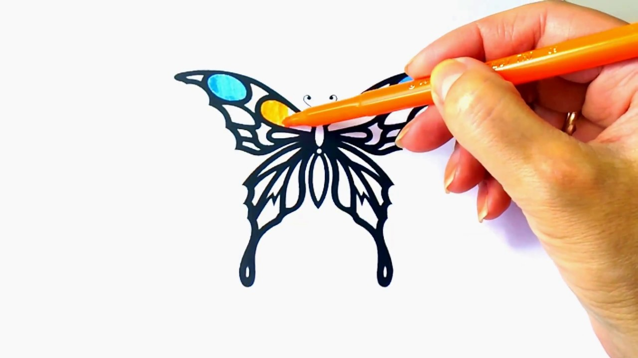 1280x720 How To Draw Butterfly Butterfly