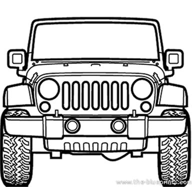 384x374 Jeep Rubicon Model On Behance Jeep Siluetas