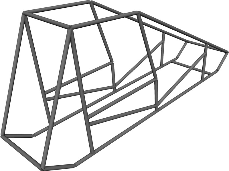 800x600 Sprint Car Chassis Base Model