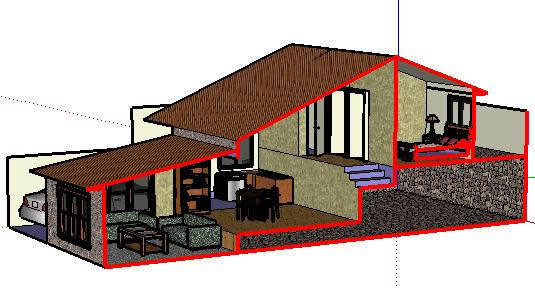 535x288 Split Level House In Cad Download