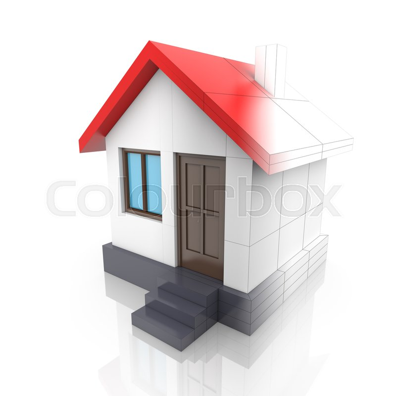 800x800 House Project Drawing Turns Into Stock Photo Colourbox