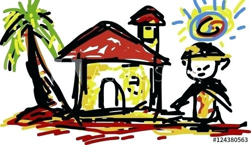 500x290 sweet home drawing home sweet home drawing image of a cozy house