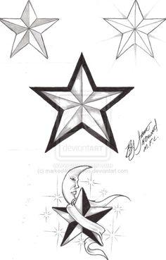 3d Star Drawing