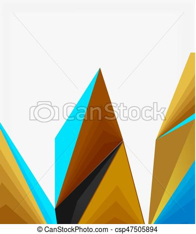 394x470 modern triangle low poly abstract geometric vector modern