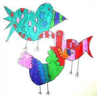 320x317 how to draw overlapping birds dreams for elementary art