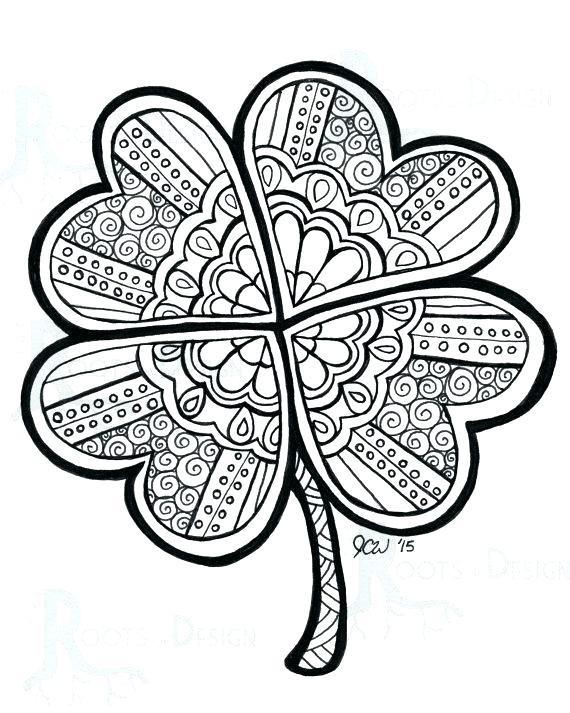 4 Leaf Clover Drawing