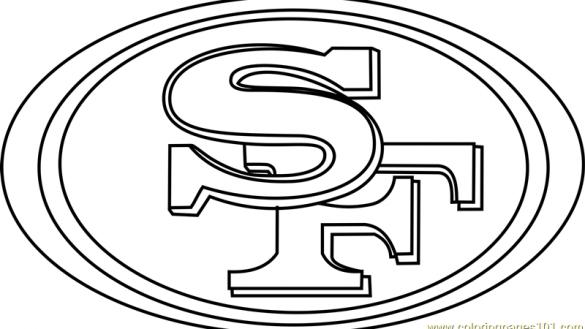 585x329 Sf Coloring Pages Stylish Cool Nfl Teams Logos San Francisco