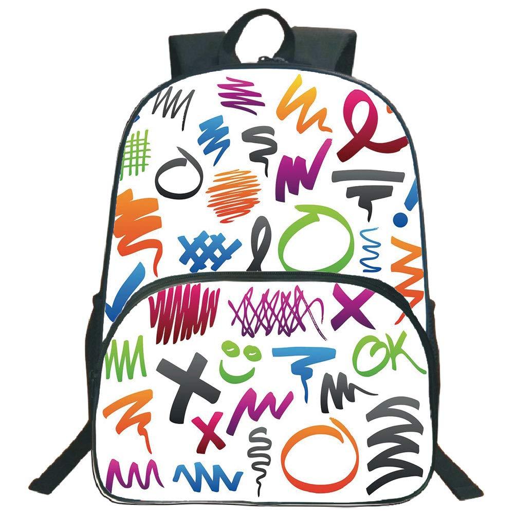 1000x1000 Doodle Print Backpacks,pencil Drawings