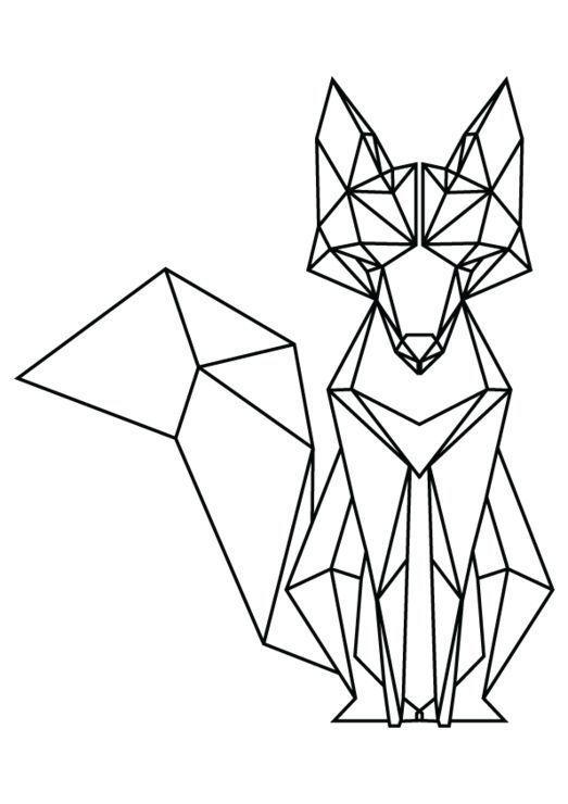 523x740 Download Grade Geometric Fox, Geometric Art, Drawings