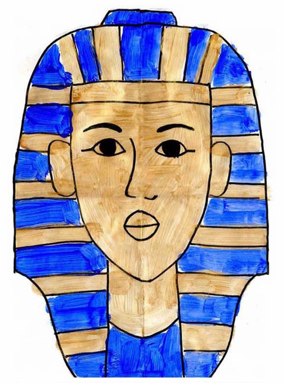 960x1293 How To Draw King Tut Apfk Painting Art Drawings For Kids