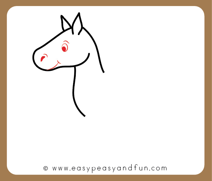 702x599 How To Draw A Horse Step