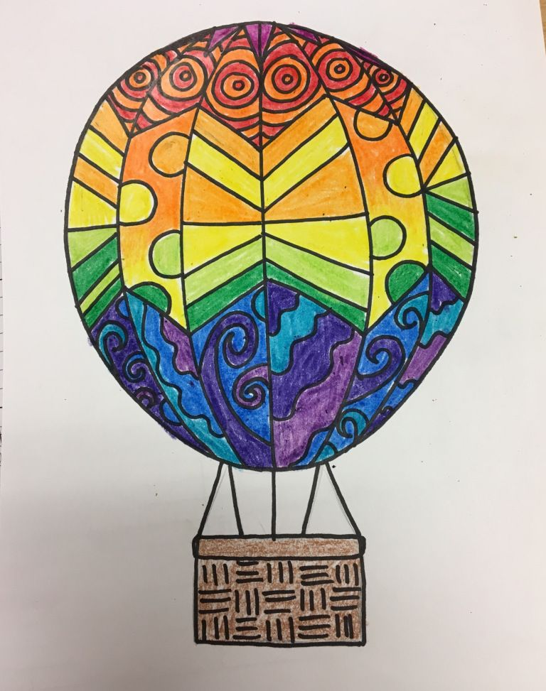 768x973 Grade Hot Air Balloons! Art Projects For Subbing Balloons
