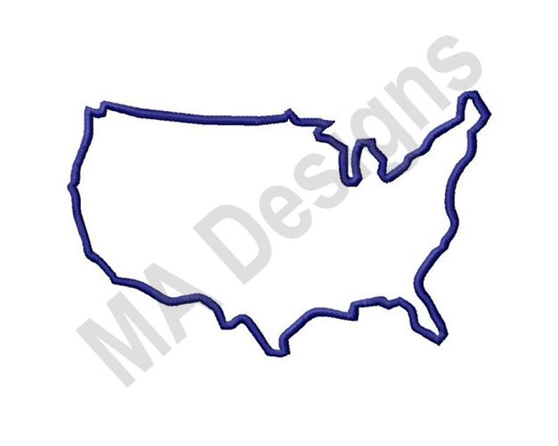 794x635 us outline machine embroidery design map united states us etsy