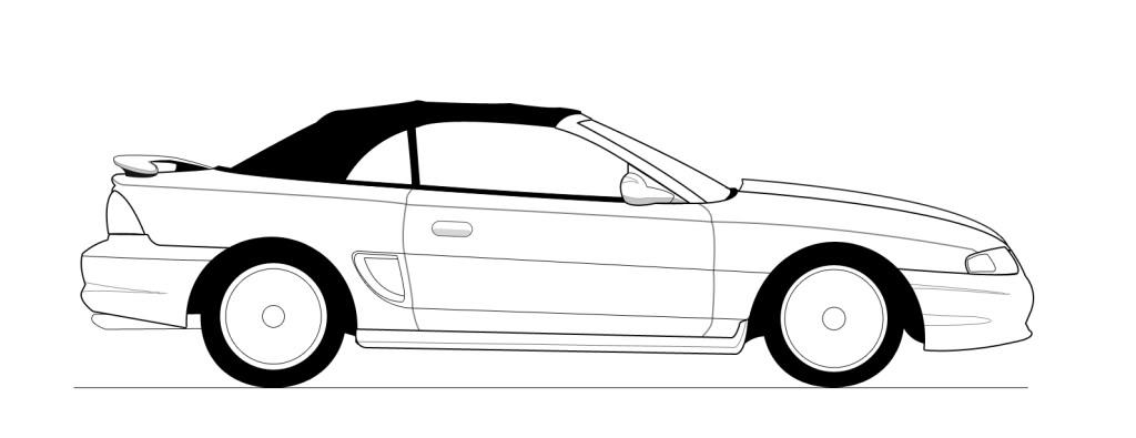 67 Mustang Drawing