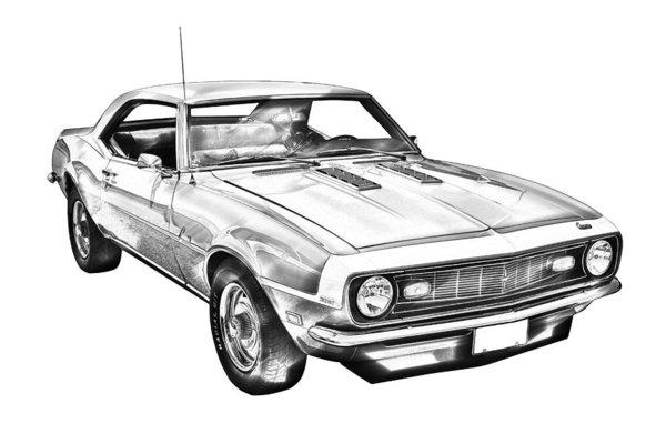 68 Camaro Drawing Free Download Best 68 Camaro Drawing On