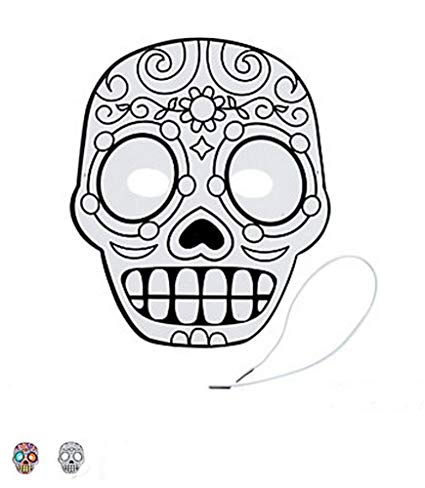 425x488 Day Of The Dead Masks