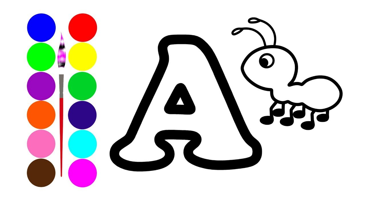 1280x720 learn alphabet abc coloring and drawing learn colors for kids