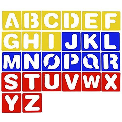 500x500 plastic abc alphabet letter stencils drawing painting stencils