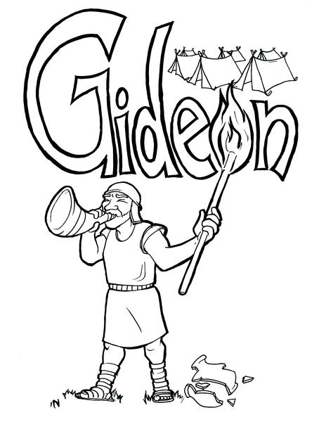 464x600 Gideon Bible Coloring Pages