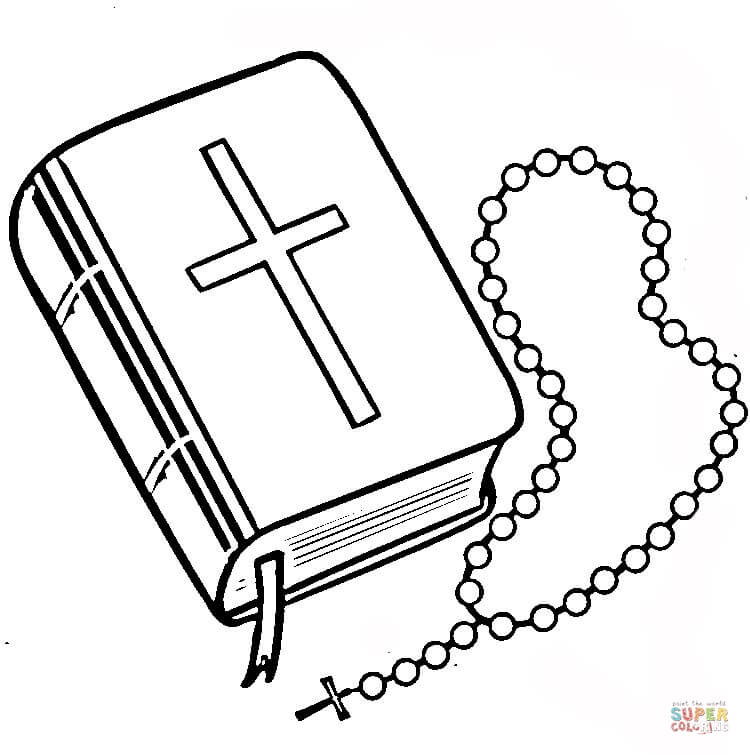 750x755 Bible Drawing Black And White For Free Download
