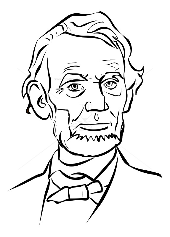 574x800 Abraham Lincoln Drawing Free Vectors, Illustrations, Graphics