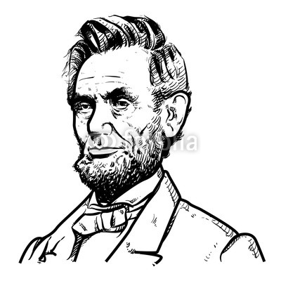 400x400 Abraham Lincoln Vector Illustration, Abraham Lincoln Drawing