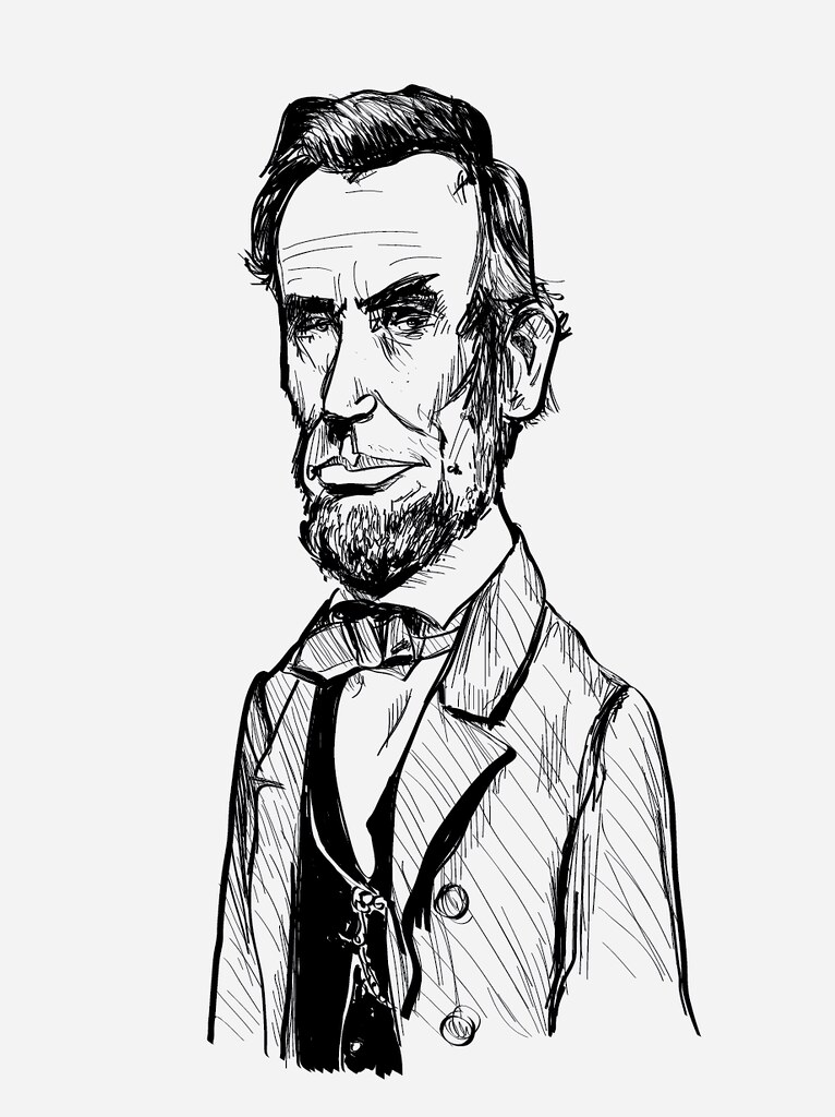 766x1024 Abraham Lincoln Drawing Drawing Using My New Wacom Tablet
