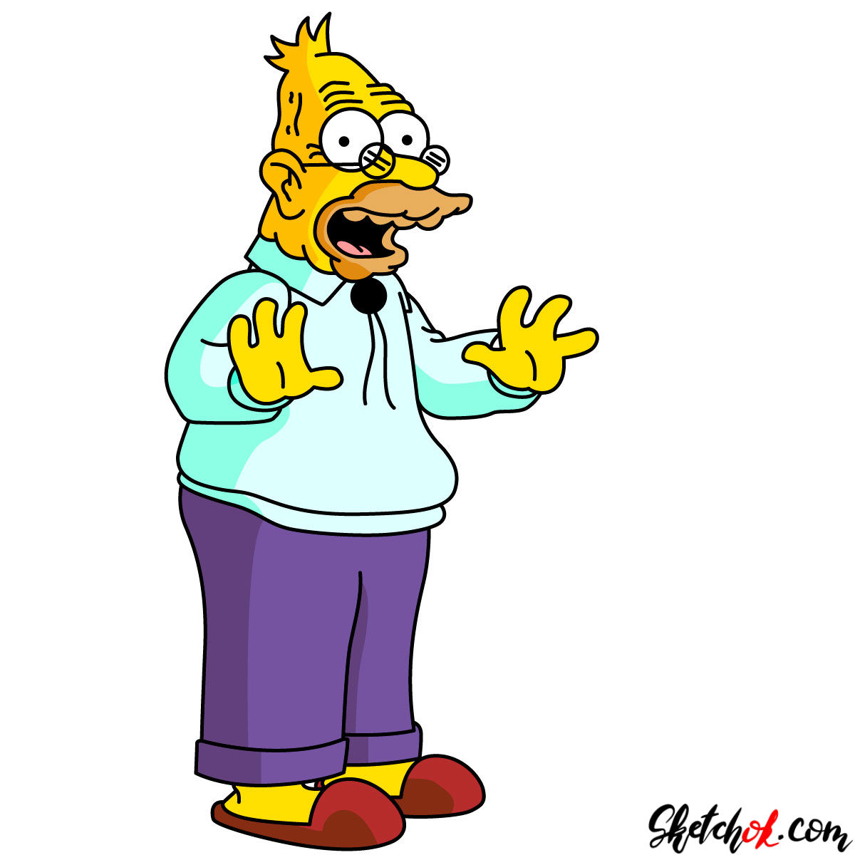 1200x1200 How To Draw Grandpa Abraham Abe Simpson