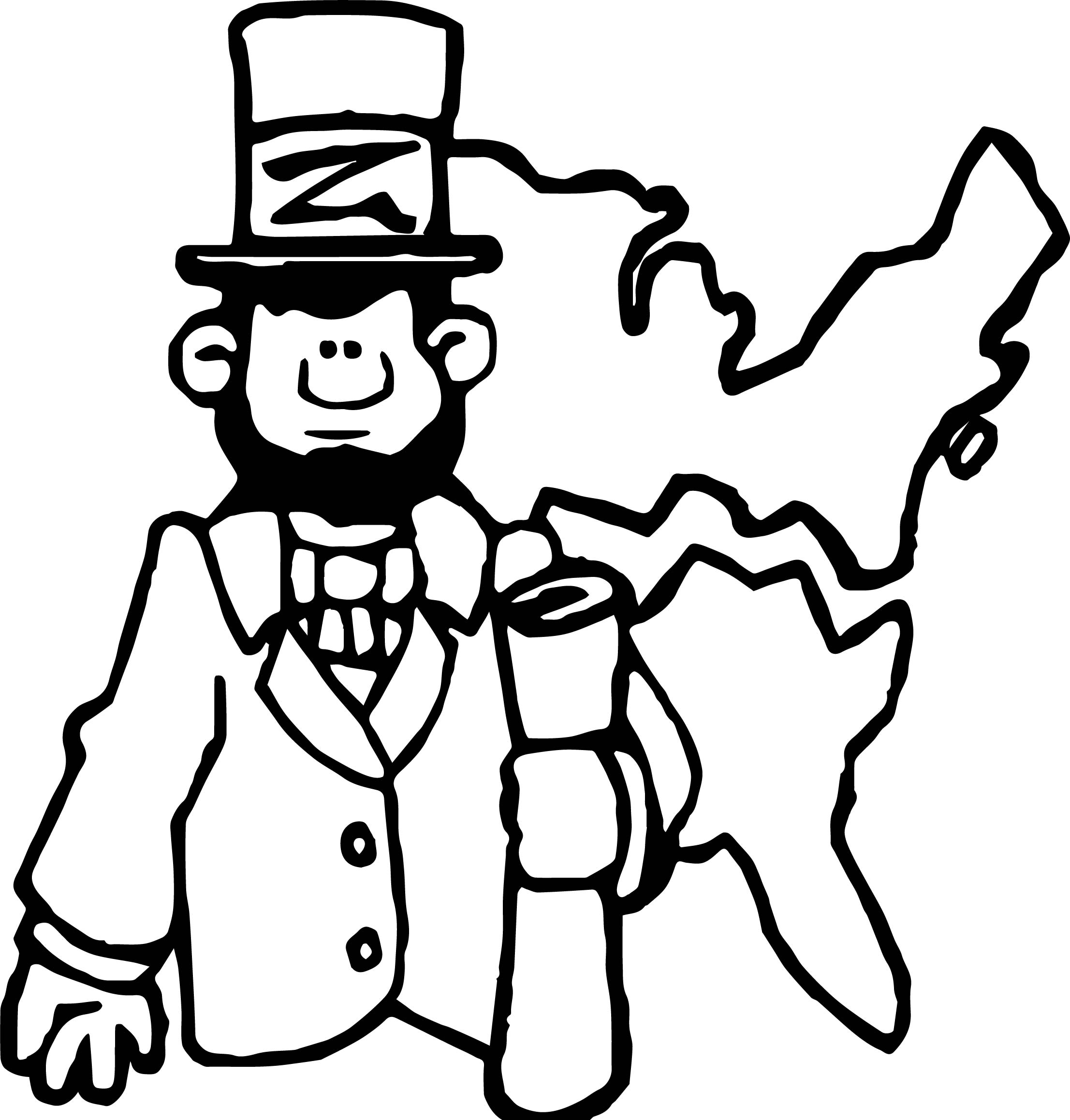 2213x2316 Abraham Lincoln President Map Coloring