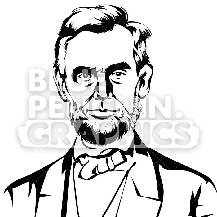 700x700 american president abraham 'abe' lincoln silhouette blue penguin