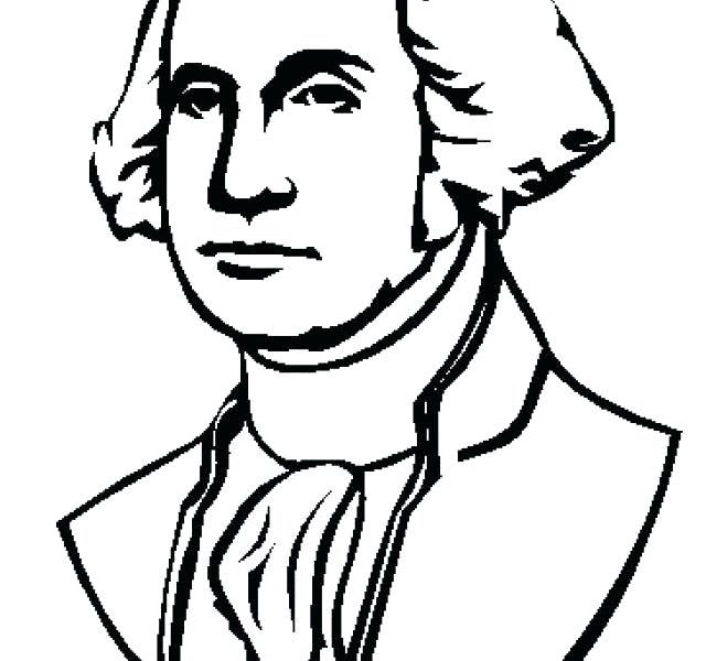 640x600 George Washington Coloring