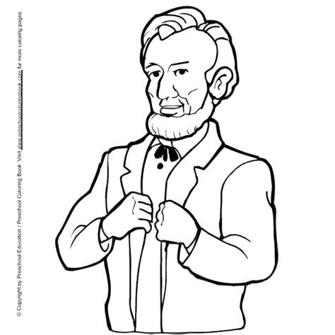 474x474 Abraham Lincoln Coloring Pages Monster Coloring Pages Free