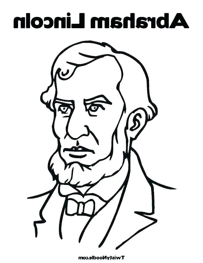 685x886 Abraham Lincoln Coloring Pages
