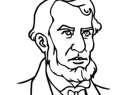 440x330 Free Abraham Lincoln Coloring Pages