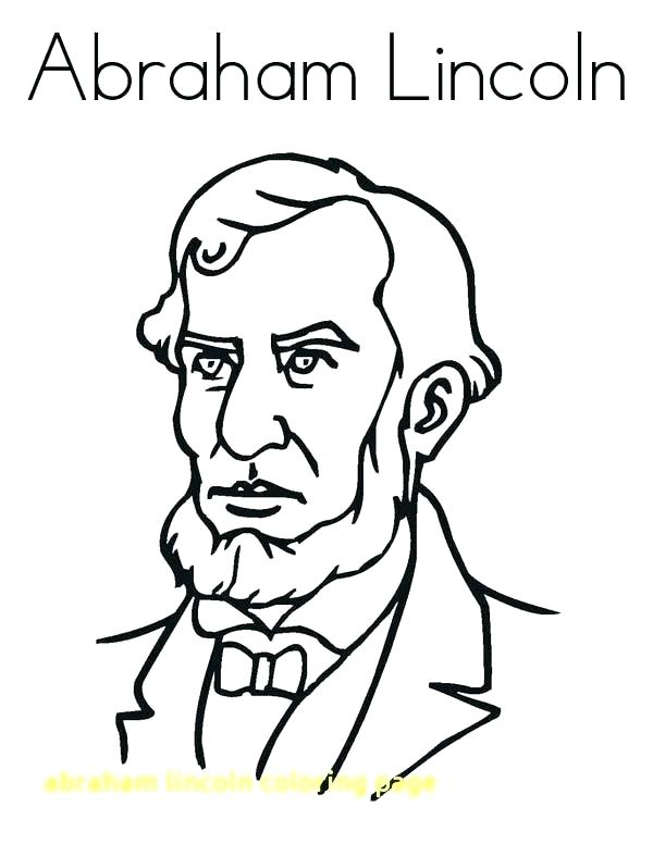 600x776 Abraham Lincoln Coloring