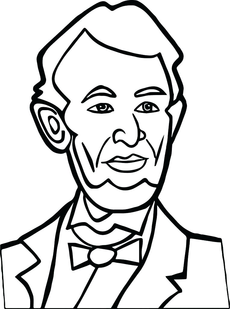 764x1024 Abraham Lincoln Coloring