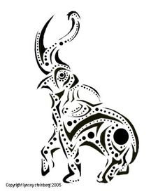 Abstract Elephant Drawing