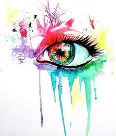 Abstract Eye Drawing