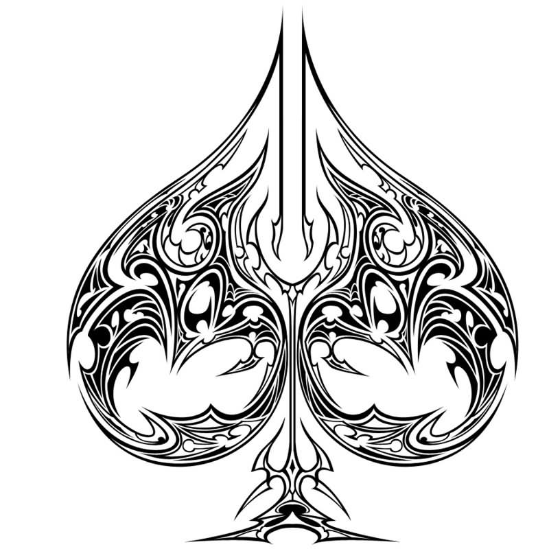Ace Of Spades Card Drawing
