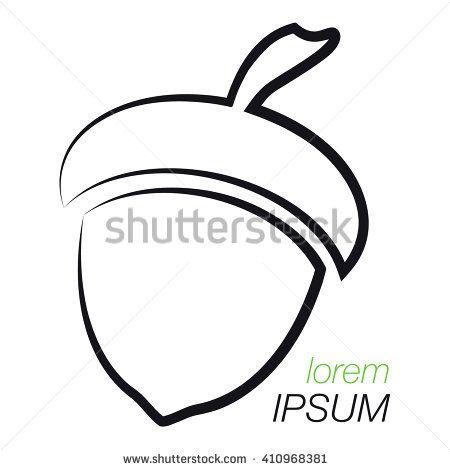 450x470 acorn logo outline acorn template logo company company logo