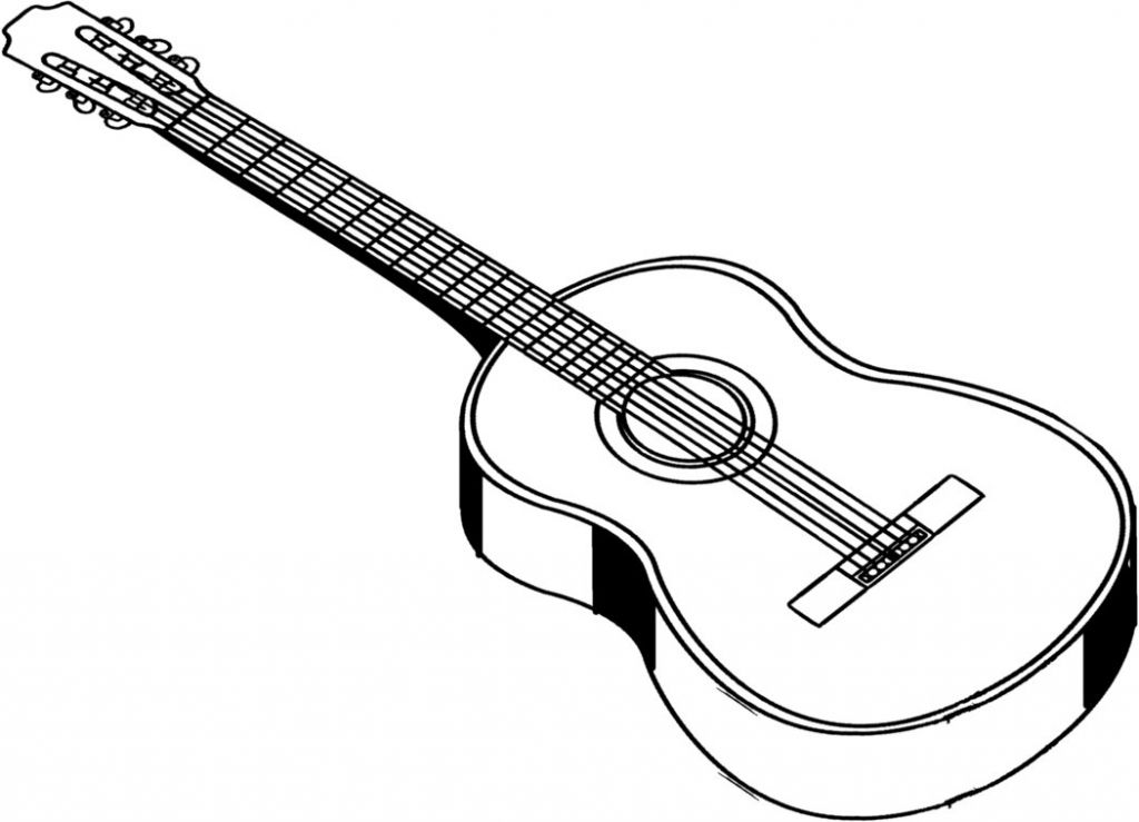 1024x739 Acoustic Guitar Drawing